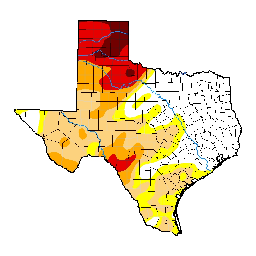 texas drought monitor desalination april 2018